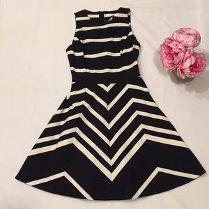 NWT Banana Republic striped back zip dress
